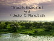 Threats to Environment & Protection
