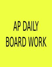 Copy of ap daily boardwork #4