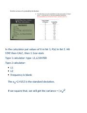 calculator - Find the variance of a probability distribution.docx