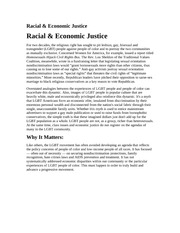 Racial and Economic issues
