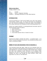 Binary Code Memo Template