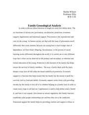 Family and Procreation Genealogical Analysis Essay