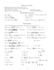 Final exam equations and constants