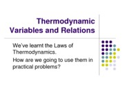 5-Thermodynamic Variables and Relations