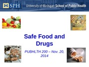 food and drug safety lecture
