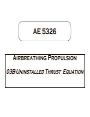03B-Uninstalled Thrust Equation