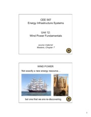 Lecture12 Wind Power Fundamentals for Energy Infrastructual system