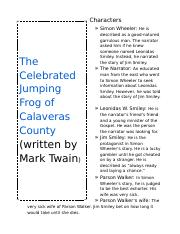 The Celebrated Jumping Frog of Calaveras.docx