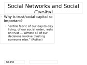 Topic 9 Social Capital and Social Trust for BLACKBOARD