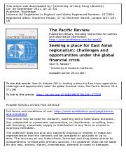 Saori N Katada - Seeking a Place for East Asian Regionalism.pdf