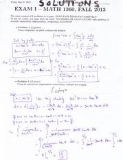 Exam solutions 1