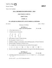 (www.entrance-exam.net)-Applied Mathematics and Numerical Methods Sample Paper 3