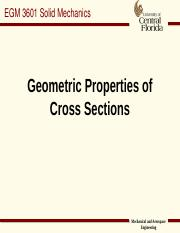 Geometric Properties of Cross Section