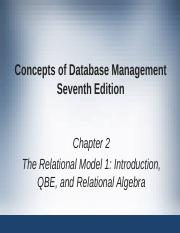 IS230 - Chapter 2 - The Relational Model