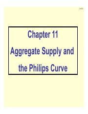 Ch11 Aggregate Supply and the Philips Curve