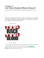 One Race-One Blood - Biblical Perspective on Race and Racism