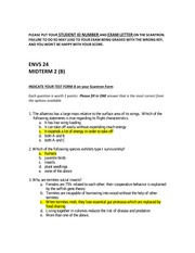 2010 Midterm 2 Answer Key Form B