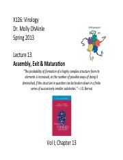 013_Assembly, Exit & Maturation