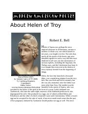 About Helen of Troy.docx