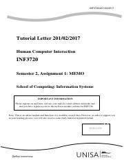 Tutorial ltter 102-INF3720 Assignment  - 01-memo.pdf