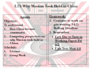 Totalitarianism Unit 2012-2013 - Lesson 13 - Why Maoism Took Hold