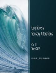 Chapter 31 Cognitive and Sensory Alterations