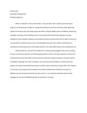 chapter 6 Operations Management Writing Assignment.docx