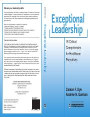 Exceptional.Leadership.Healthcare