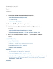 Dietetics Chapter 9 Study Guide