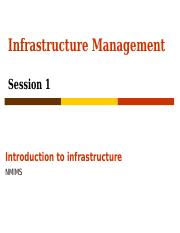 20150614 Infrastructure Consulting and finance- session 1
