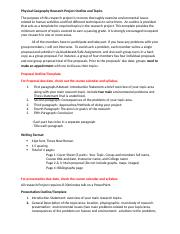Research Project Outline and Topics (1)(2)