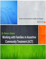 Chen (2008) - Working with Families in ACT - Lect