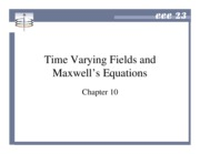 Chapter 10 - Time Varying Fields and Maxwell's Equations