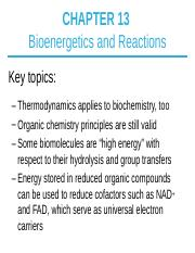 CHEM 3530 Chapter 13 Lecture Notes_ALS