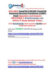 (2018-10-25)New Braindump2go CAS-003 VCE and CAS-003 PDF Dumps 368Q&As Free Updated(Q328-Q341).pdf