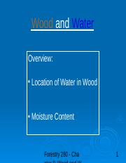 Lecture #280-15 - Wood and Water.ppt