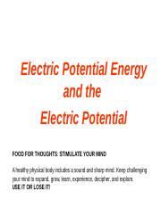 Lecture 7 Electricpotentialenergy _ part 1