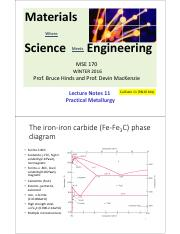 MSE170 Lecture Notes 11 PracticalMetalurgy