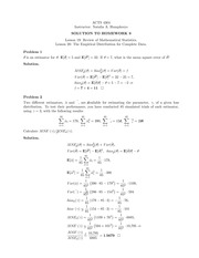Homework 9 Solution on Construction and Evaluation of Actuarial Models