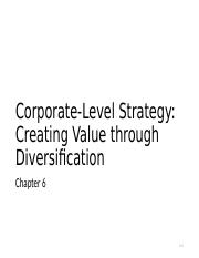 Chapter 6 - Corporate-Level Strategy(2).ppt