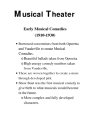 Intro to theater Musical Theater 4