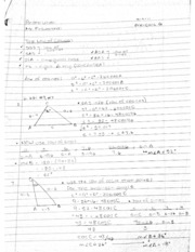Precalc law of cosines notes - Feb 4, 2014, 9-11 PM