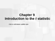 Lecture 10 Chapter 9