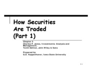 Chapter 5-How Securities Are Traded-Part 1