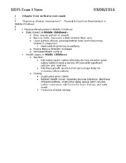 HDFS Exam 3 notes