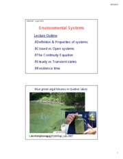 Lecture 2 Environmental Systems