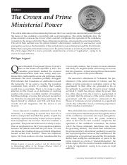 The Crown & Prime Ministerial Power. Can Parl Rev Sum 2016.pdf