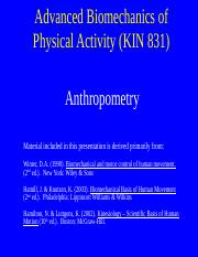 Lecture  Anthropometry