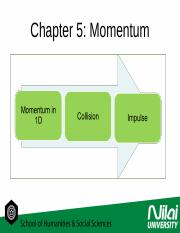 chapter 5 momentum
