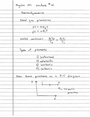 Gas Laws, Thermodynamics, and Energy notes